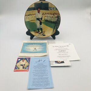 Lou Gehrig Luckiest Man Collectors Plate The Bradford Exchange Delphi with COA