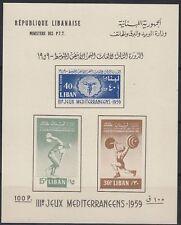 Libanon Lebanon 1959 ** Bl.18 II Mittelmeerspiele Mediterranean Games Sports