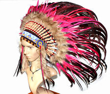 Pióropusz Indiański prawdziwe Pióra ręcznie wykonany wysoka jakość UNIKAT ROSE