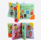 Baby Cloth Books with Teether Hook Early Education Toys Activity Crinkle Book 2x