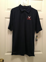 New Virginia UVA Cavaliers Soccer Team Issued Nike Blue Logo Polo Shirt Small