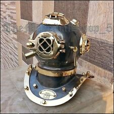 US NAVY MARK IV FULL BRASS SCUBA DEEP SEA SCA DIVERS DIVING HELMET DECOR GIFT