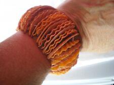 Pulsera de piedras preciosas de cáscara de naranjas & beiges, 50 Mm x 1 mm, en Elasti Doble Elástico