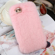 Luxury Fluffy Hybrid Soft Back Cover Case For iPhone 5S 5C 6 6S Plus For Samsung