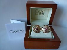 Clogau Gold, Large 9ct Yellow & Rose Gold Celtic Knot Ruby Stud Earrings