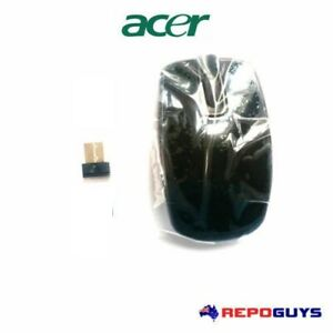 Acer Wireless Mouse Optical Mouse Black MG-0919 With USB Receiver Dongle