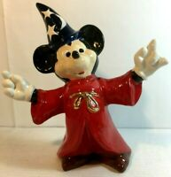 "Vintage Mickey Mouse Fantasia Sorcerer Ceramic Figurine Large 11"" x 9"""