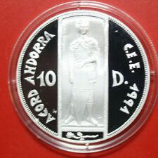 Andorra 10 Diners 1991/93 Silber Proof KM# 89 Gem Proof-PP #F3434
