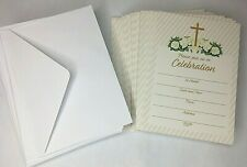 60 Pack RELIGIOUS CHRISTIAN INVITATIONS w ENVELOPES, BAPTISM, PARTY, WEDDING NEW