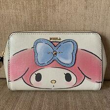 FURLA Hello Kitty TONI BLU Pink White Medium COSMETIC CASE Make up Bag Ltd Ed