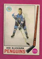 1969-70 OPC # 113 PENGUINS BOB BLACKBURN  ROOKIE EX CARD (INV#0506)