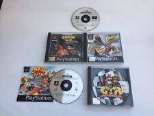 1 PS1 CRASH BANDICOOT 2 Cortex colpisce ancora Crash 3 deformato Bash & CTR Bundle