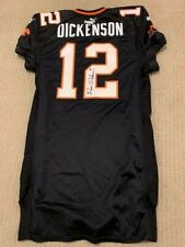 Game Used DAVE DICKENSON Signed BC Lions 2003 CFL All-Star HOF Puma Jersey Sz 48