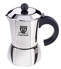 GRÄWE Espressokocher Espressokanne Edelstahl Induktion 6 Tassen Kaffeebereiter