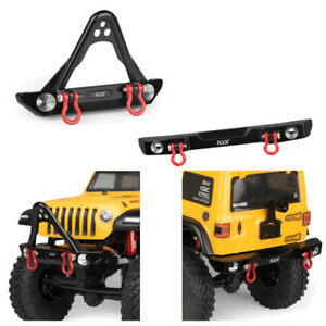 KYX Axial SCX24 Jeep JLU Metal Front and Rear Rear Bumper w/ Shackle