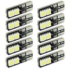 10x CANBUS ERROR FREE LED White T10 168 194 W5W Wedge 4 SMD 5050 Light bulb