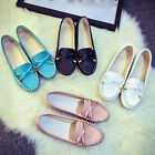 Womens Ladies Loafers Flat Shoes Casual Work Pumps Diamante Comfort Slips Shoes