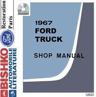 1967 Ford Truck Shop Service Repair Manual CD