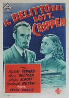 """DR CRIPPEN AN BORD"" Affiche entoilée (Erich ENGELS / Rudolf FERNAU,Anja ELKOFF)"