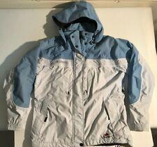 Columbia Interchange Omni-Shield Ski Jacket Coat Blue Sz L Fleece Liner Hood