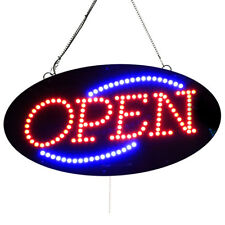 "High Quality Led Open Signs - Small, Oval - ""Open"" -10""x20""- Led-Factory (#1852)"