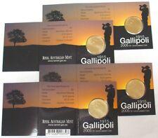 2005 Australia Gallipoli 90th Anniversary $1 Coins - Four Mintmarks