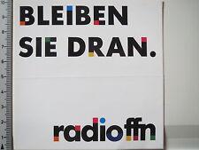 Aufkleber Sticker Radio FFN Spruch (3838)