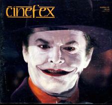 cinefex the journal of cinematic illusion  Tim Burton Batman