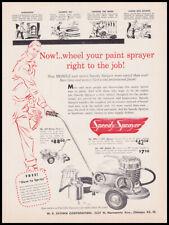 1960 Speedy Sprayer print ad on wheels