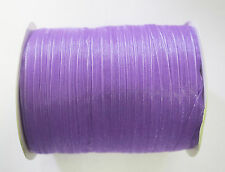 15 Meters Sheer Organza Ribbon - Medium Purple - 6mm