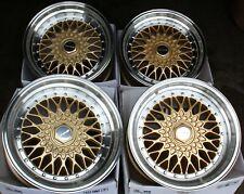 "17"" GOLD RS ALLOY WHEELS FITS MERCEDES S CLASS C126 W116 W126 SLK R170 R171"
