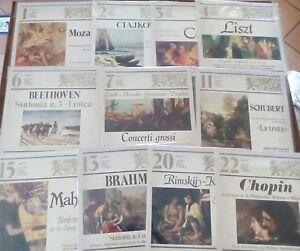 """Lotto 11 Dischi in Vinile musica classica """" I TESORI DELLA MUSICA CLASSICA """""""