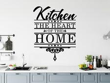 Cocina Corazón Del Hogar Vinilo de Pared Frase a Medida Pegatina 019