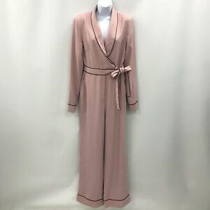 New Lavish Alice Jumpsuit Size UK 12 Collared Style Tie Up Pink Smart 482415