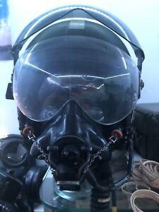 RARE Raf Mk3c Flight Helmet With Early Q Type Oxygen Mask Falklands Harrier