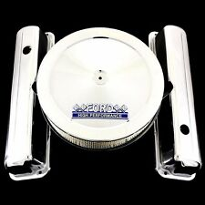 Chrome Valve Covers & Ford Hp Emblem Air Cleaner Fits Ford 352 360 390 427 428