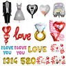 I LOVE YOU Wedding Party Decor Heart /Bride/Groom Designs Foil Helium Balloon