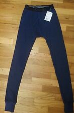 Jockey Mens Stretch Waffle Thermal Pants size S base layer Navy
