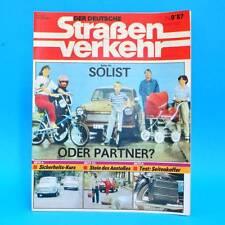 Der Deutsche Straßenverkehr 9/1987 MZ ETZ 250 Peugeot 405 HP 500 Haff Wolgast G