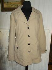 Manteau 3/4 imperméable MISE AU GREEN T.4 42/44 Polyamide beige ceinture à nouer