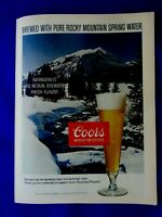 "1976 Coors Snowy Stream-Original Print Ad 8.5 x 11"""