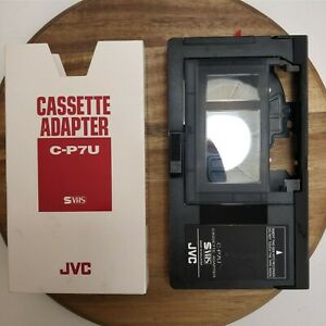 Tested New Old Stock JVC VHS-C VCR Compact Cassette Adapter Motorized C-P7U OEM