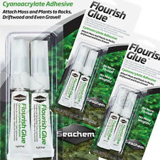 Flourish Glue Freshwater Aquarium Moss/Plant Adhesive Seachem 2Pk/(4) x 4g Tubes