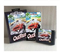 Out Run 16 bit MD Game Card Boxed With Manual For Sega Mega Drive Genesis