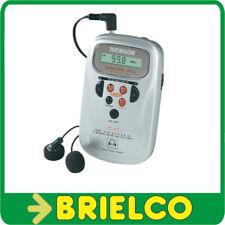 RADIO DIGITAL DE BOLSILLO THOMSON RT212B Y AURICULARES 20 MEMORIAS LCD BD3896