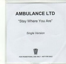 (CA710) Ambulance Ltd, Stay Where You Are - DJ CD