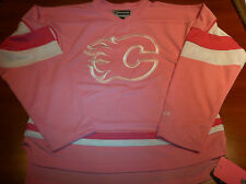 Calgary Flames NHL Hockey Pink Infant Jersey 18 Months Girls Little Reebok NWT