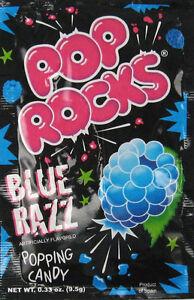 POP ROCKS BLUE RAZZ, PACK OF 6 POP ROCKS