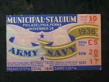 Vintage 1936 Army vs Navy Ticket Stub Municipal Stadium Row 28