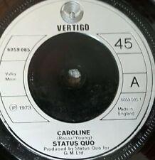 "STATUS QUO - CAROLINE - UK 45 7"" Single VERTIGO"